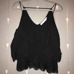 ASTR the label : Black off the shoulder shirt